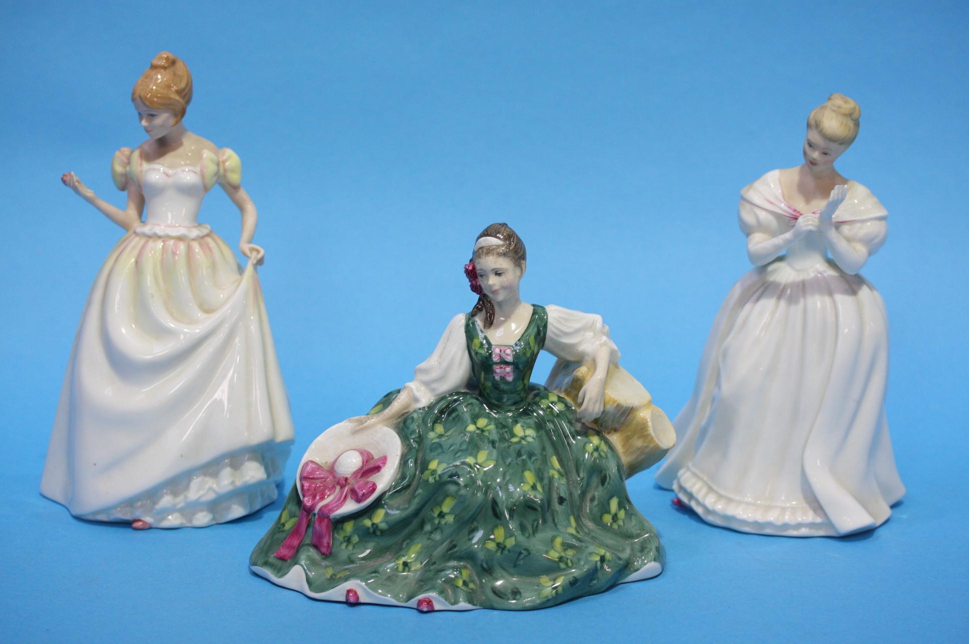 Lot 35 - Three Royal Doulton ladies.