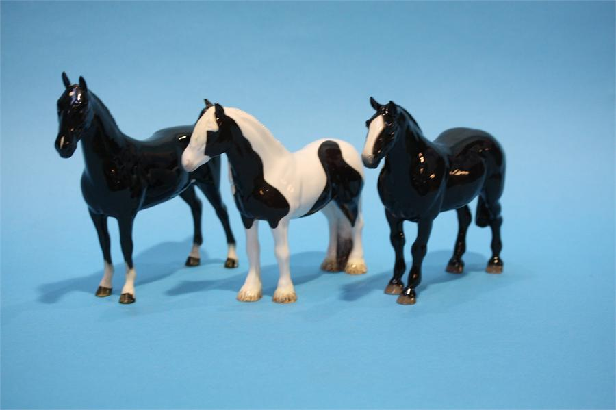 Lot 47 - Two modern Beswick horses and a Beswick 'CH Black