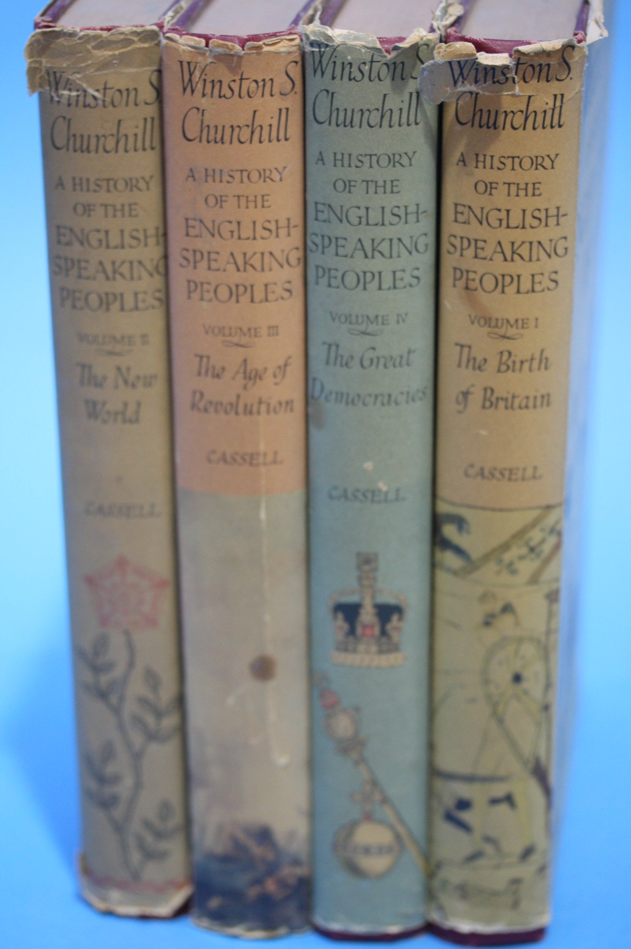Lot 45 - Four volumes by Winston Churchill, 'A History of t