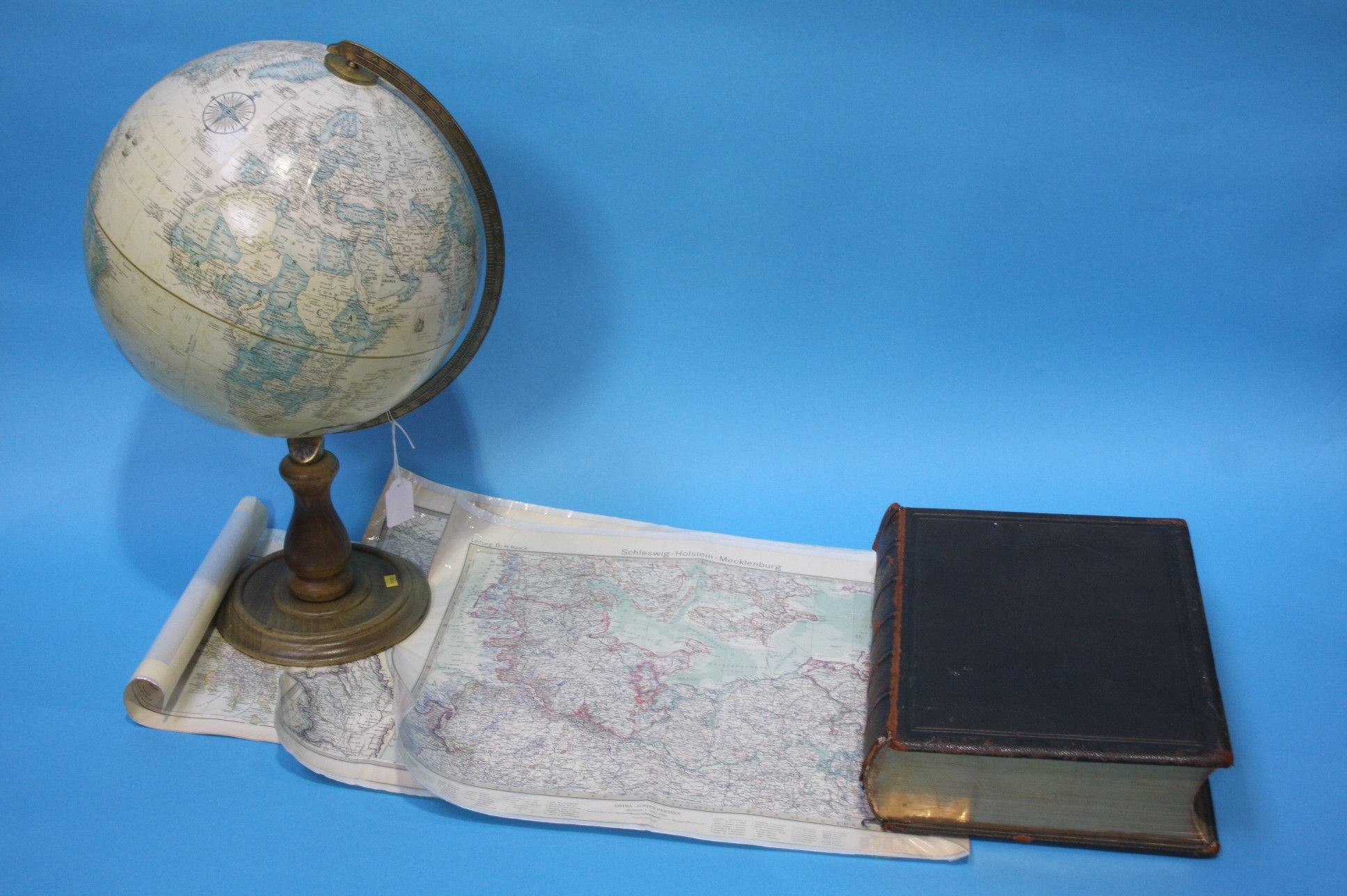 Lot 2 - Globe, family bible etc.
