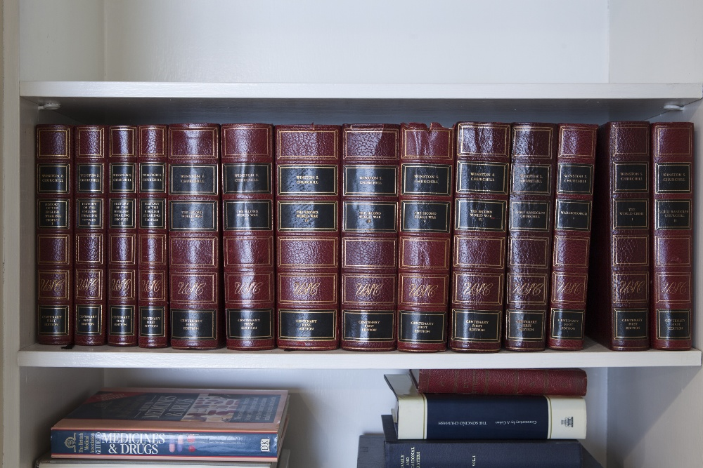 Lot 50 - CHURCHILL, WINSTON, WORKS OF, CENTENARY FIRST EDITION PUBLISHED BY CASSELL & CO 1976, 25 VOLUMES,