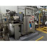 Lot of (2) Ingersoll Rand horizontal tank mount air compressors, 10 hp, both compressors mounted