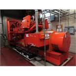 Waukesha Enginator stand by generator model VHP5900DS, s/n RU19132, 1.0 MW, engine model L792DSU,