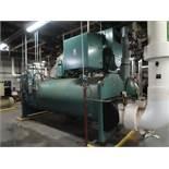 2005 York Max Centrifugal liquid chiller, unit model YKJKHDJ2-DBFS, 1,279 Ton, 976 HP, refrigerant