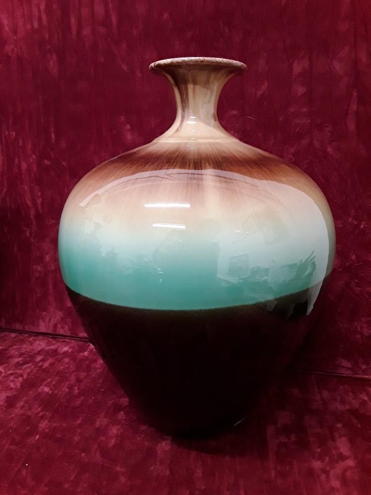 Lot 44 - Five beautiful salt glazed ceramic vases made in Iran.
