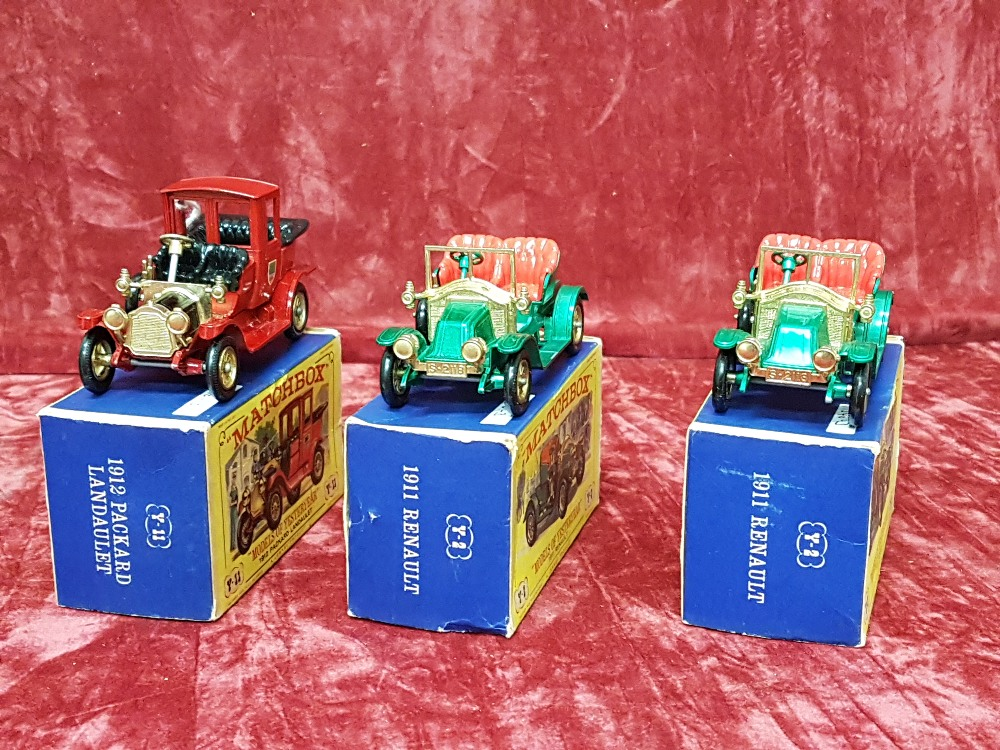 Lot 49 - Three boxed Lesney Matchbox 'Models of Yesteryear' cars.