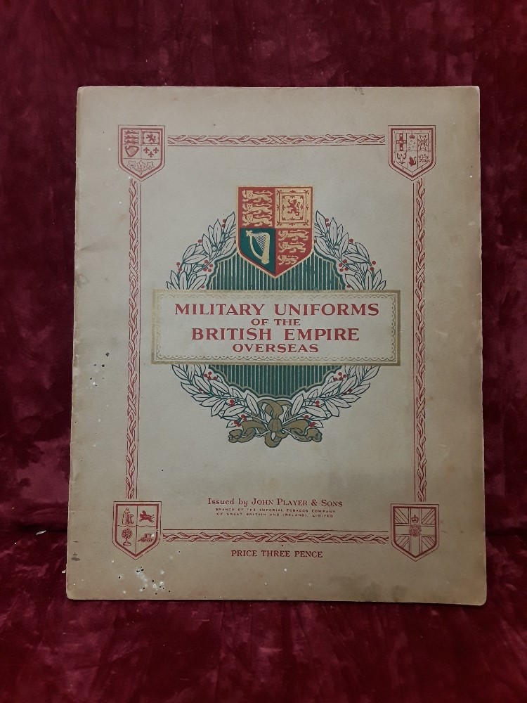 Lot 423 - A book titled 'Military Uniforms of the British Empire Overseas' for Players cigarette cards
