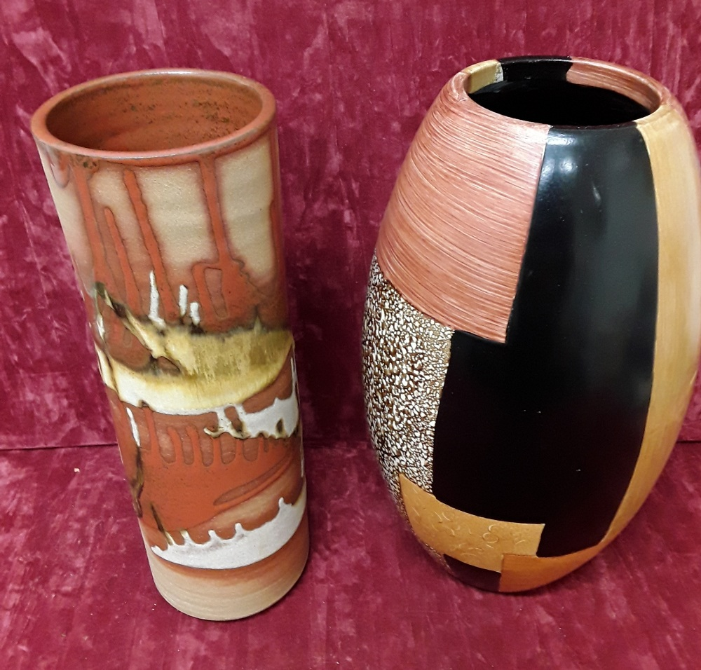 Lot 45 - Two large modern vases.
