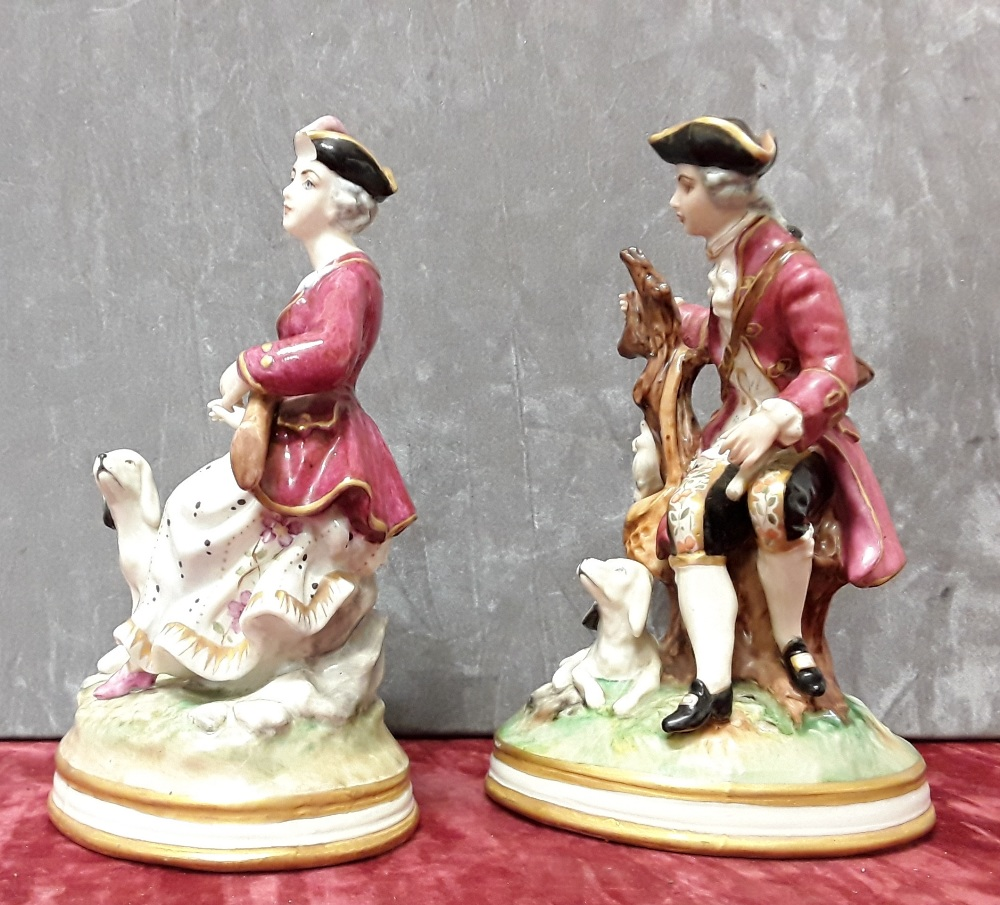 Lot 8 - A pair of continental hard paste porcelain figurines.
