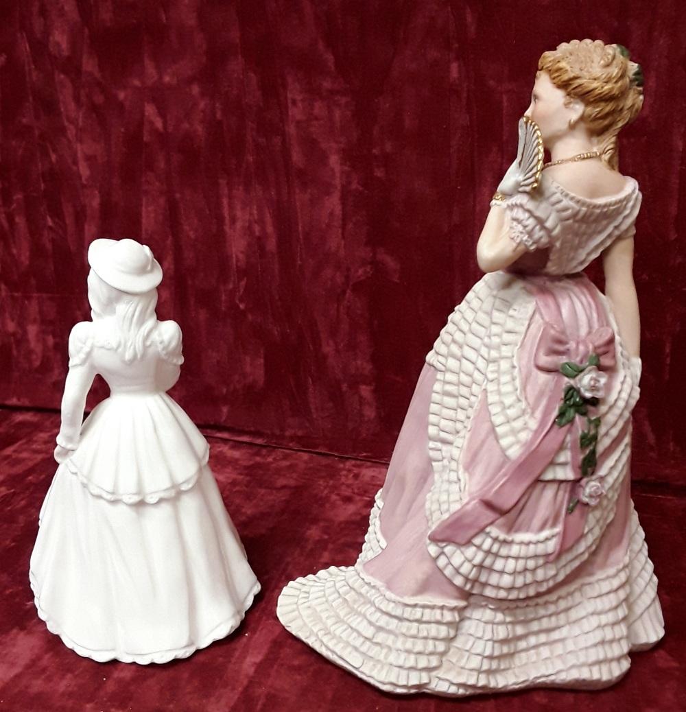 Lot 23 - A Wedgwood porcelain figurine 1988 'Enchanted Evening' and small Coalport figurine.