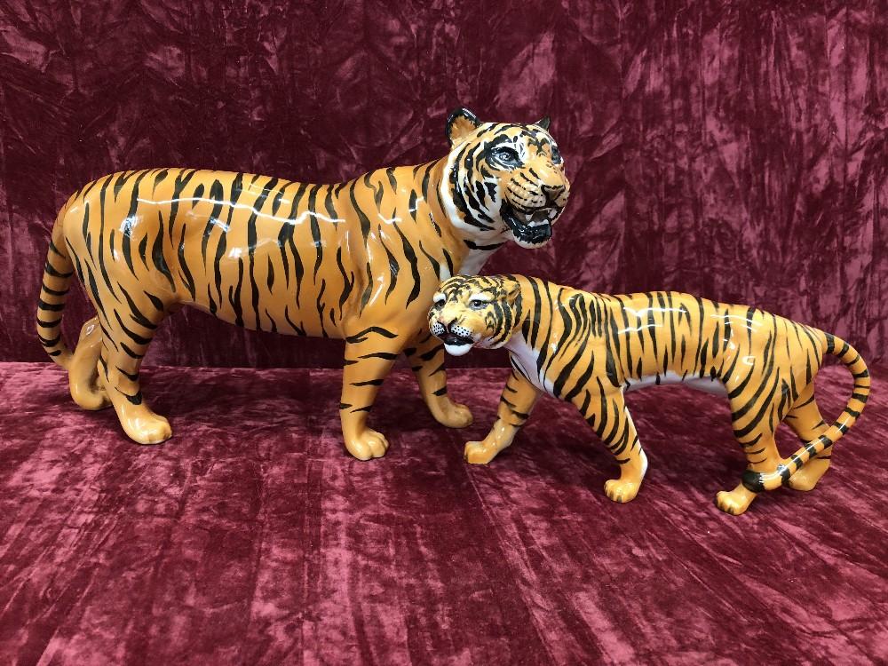 Lot 24 - A Beswick tiger 2096 and tigress 1486.