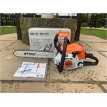 """BRAND NEW AND UNUSED STIHL MS181C CHAINSAW, C/W MANUAL, TOOLS, BOXED, 16"""" BAR & CHAIN *NO VAT*"""