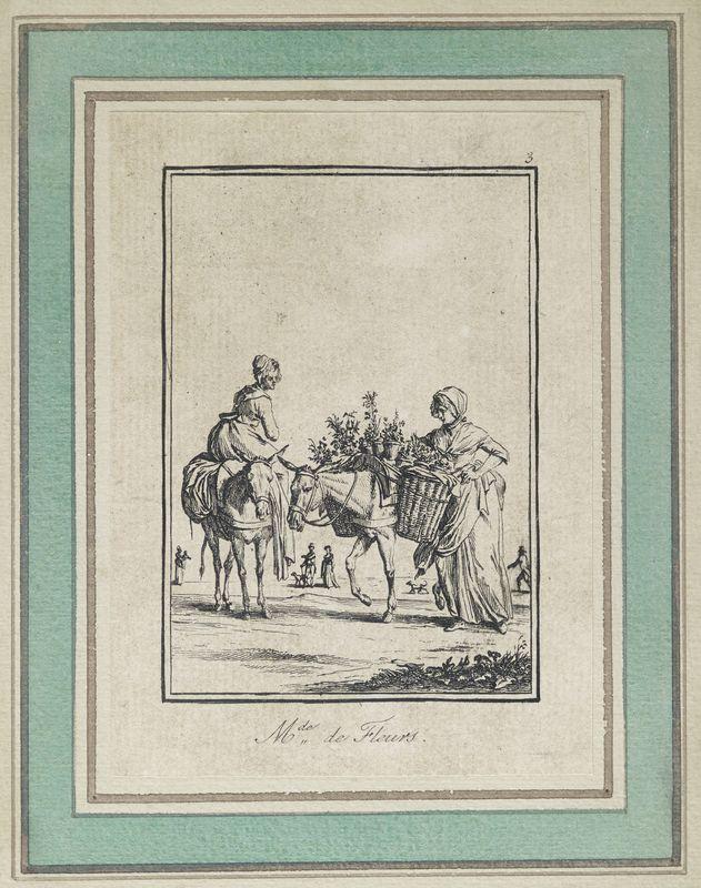 Lot 1 - Ensemble d'estampes : 7 sur le thème des petits métiers et 2 autres bétail et [...]