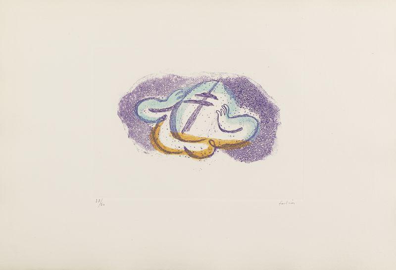 Lot 26 - Jean FAUTRIER (1898- 1964) - L'Otage aux mains I - Eau forte, aquatinte et gaufrage [...]