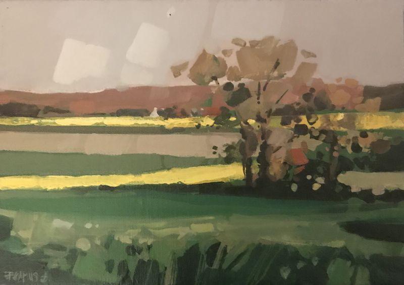 Lot 3 - Patrick CAMUS (XXème siècle) - Le printemps - Huile sur toile signée en bas à [...]