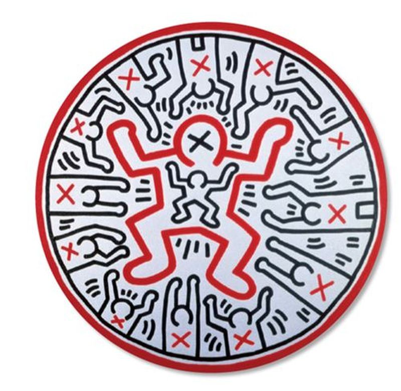 Lot 38 - Keith HARING (1958-1990) - D'après Child - Assiette en porcelaine - D. 21 cm - - [...]