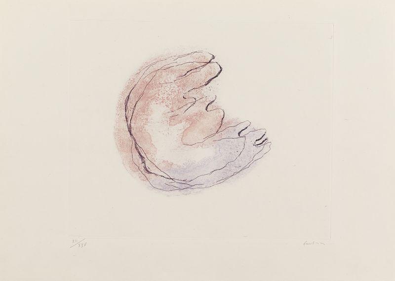 Lot 25 - Jean FAUTRIER (1898- 1964) - Baby Mine - Eau forte et aquatinte en couleurs sur Japon [...]