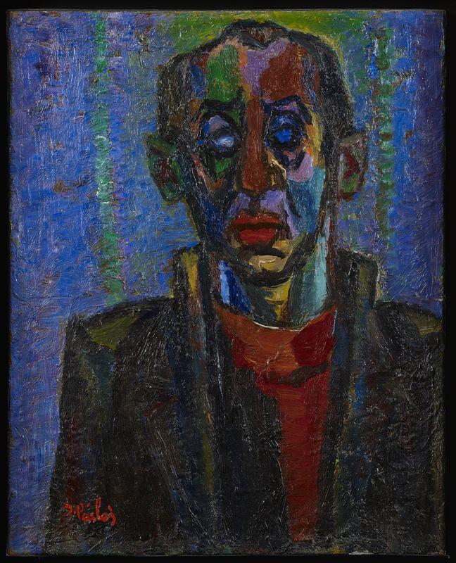 Lot 52 - Isaac PAILES (1895-2978) - Portrait - Huile sur toile signée en bas à gauche et [...]
