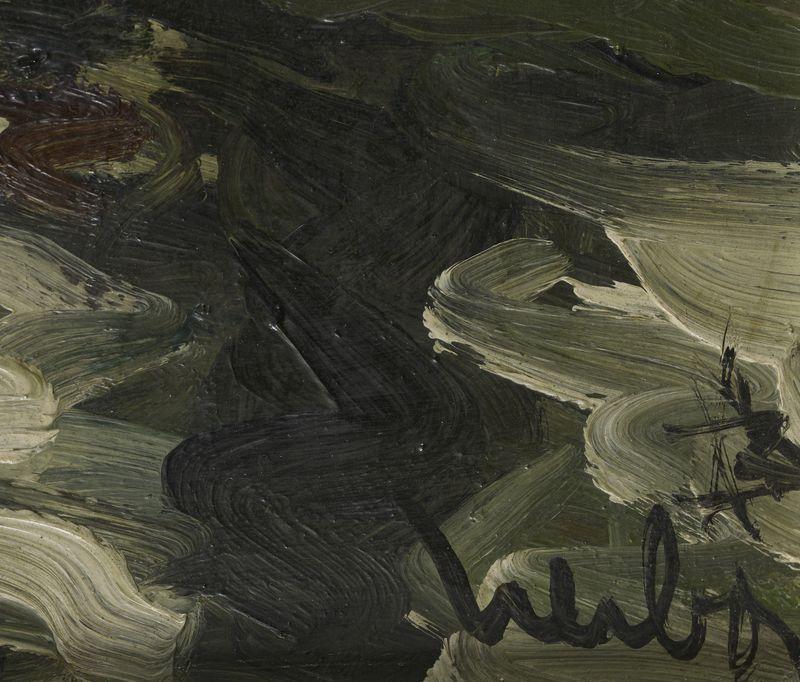 Lot 15 - Fernand HERBO (1905- 1995) - La maison au borde de l'eau -Huile sur isolrel signée [...]