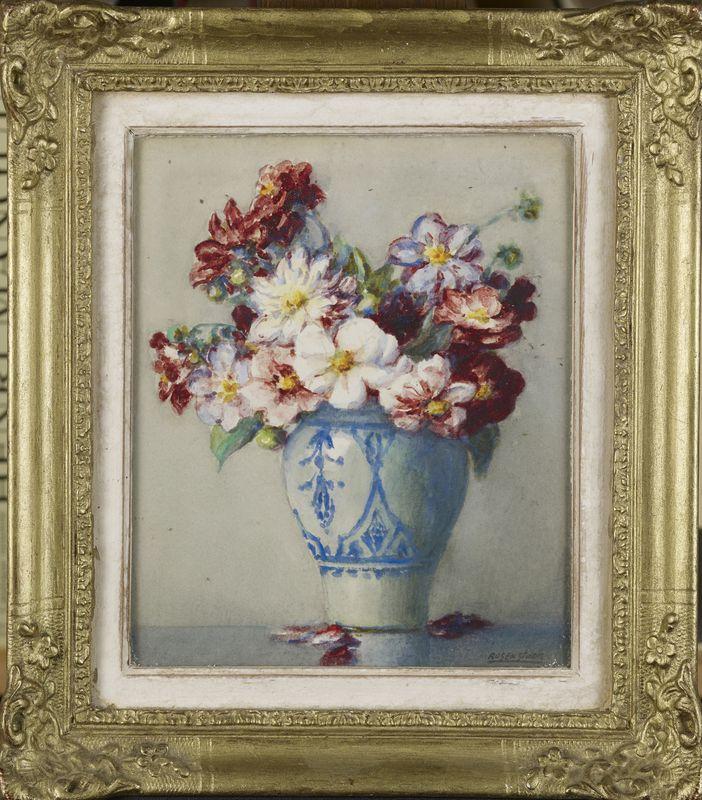 Lot 10 - Isidore ROSENSTOCK (1880-1956) - Bouquet de fleurs - Aquarelle signée en bas à [...]