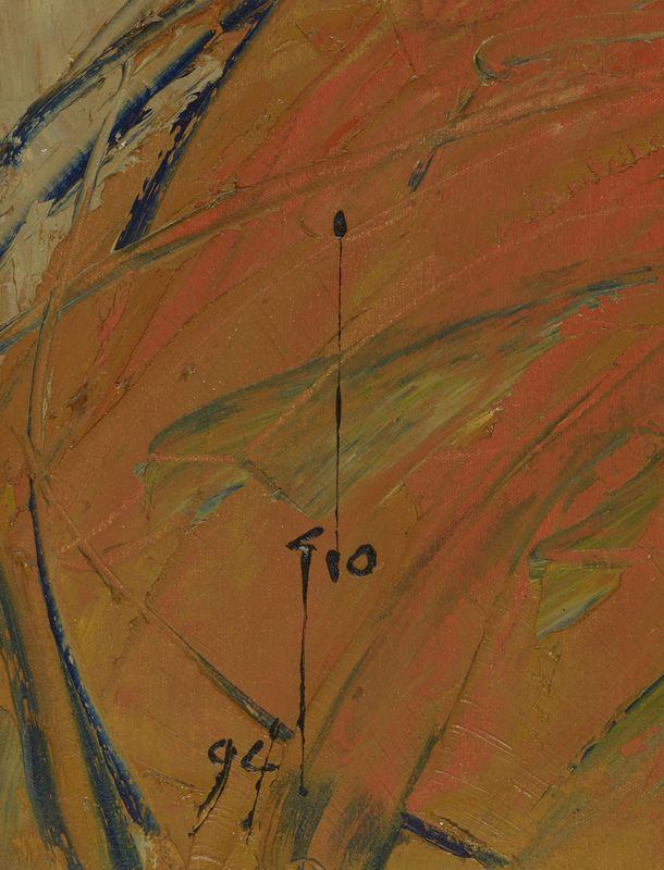 Lot 59 - Ablade GLOVER (1934) - Profile - Huile sur toile signée en bas à gauche et daté [...]