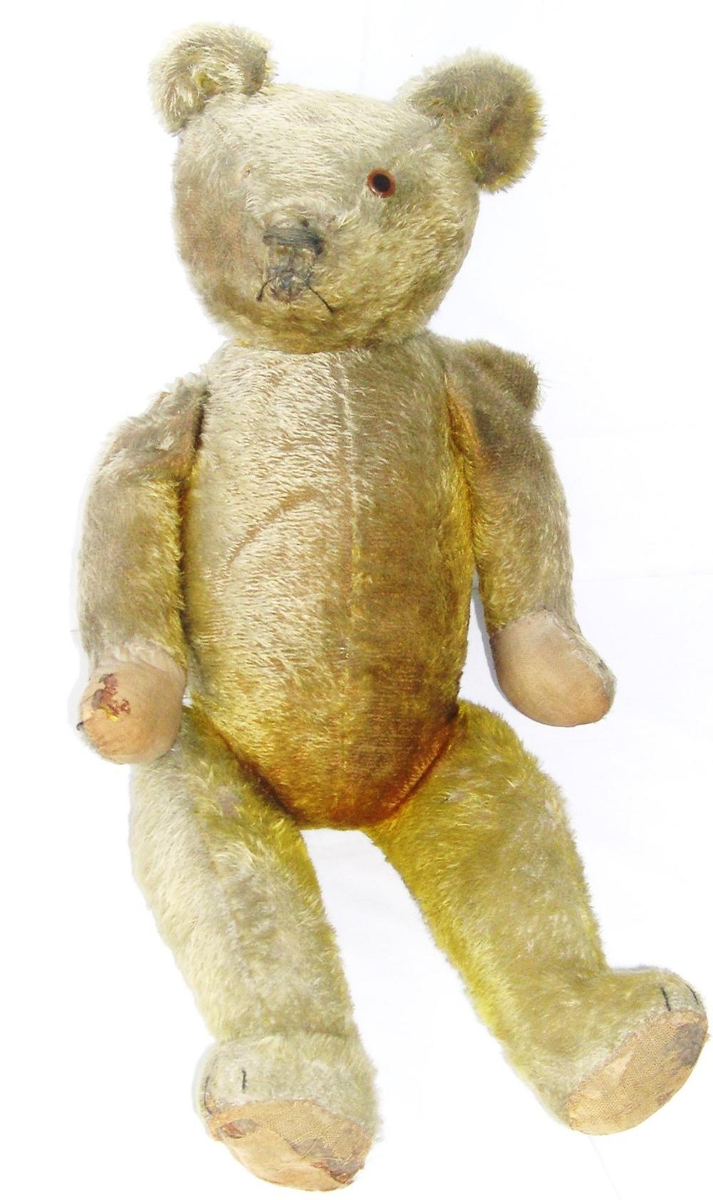 Large Steiff style teddy bear c. 1920-30, 68.5cm high.