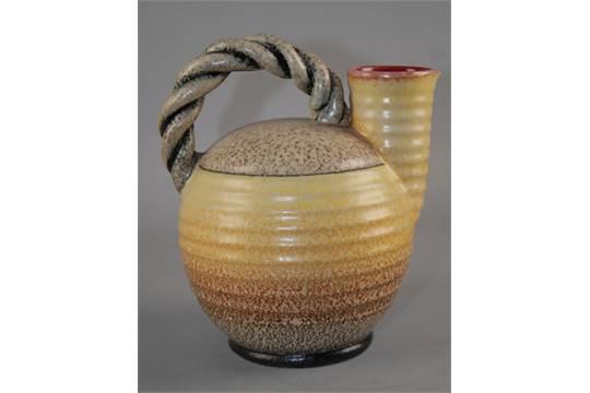 Bellissimo vaso di ceramica albisola firmato riccamente