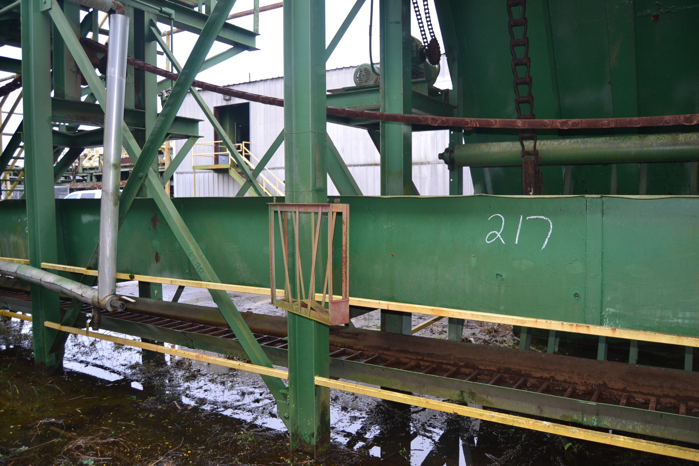 Lot 217 - 65' ALL STEEL WASTE COVNEYOR W/LADDER BACK CHAIN W/DRIVE