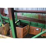 90' ALL STEEL WASTE CONVEYOR W/DOUBLE LADDER BACK CHAIN