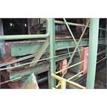 65' ALL STEEL WASTE CONVEYOR W/LADDER BACK CHAIN; W/DRIVE