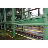 180' ALL STEEL WASTE CONVEYOR W/LADDER BACK CHAIN W/ DRIVE