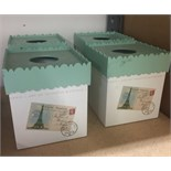 Lot 11 - 4 X FRENCH BOUTIQUE INSPIRED TISSUE BOX COVERS