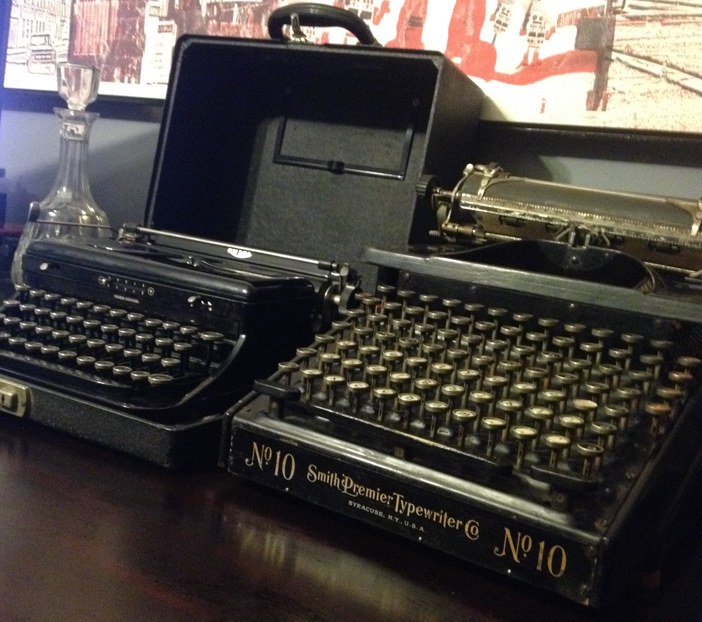 Lot 4 - SMITH PREMIER AND ROYAL ANTIQUE TYPEWRITTERS VERY RARE
