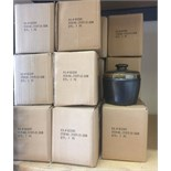 Lot 19 - 35 X JOSEPH ABBOUD BLACK STONE DECO JARS WITH COVERS