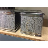Lot 15 - 9 X J.QUEEN NEW YORK LUXURY MIRRORED TISSUE BOX COVERS