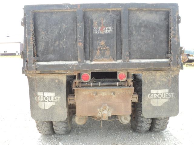 Lot 307 1986 white dump truck twin screw 315 cummins straight 8 speed 13ft dump bed starts - Dump truck twin bed ...