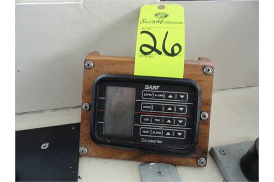 Dart Data Marine depth finder (pilot house)