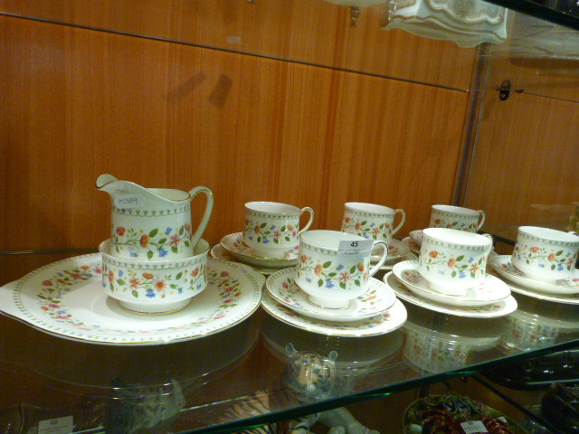 Lot 45 - Paragon China Pottery Anastasia Part Tea Set (Twen