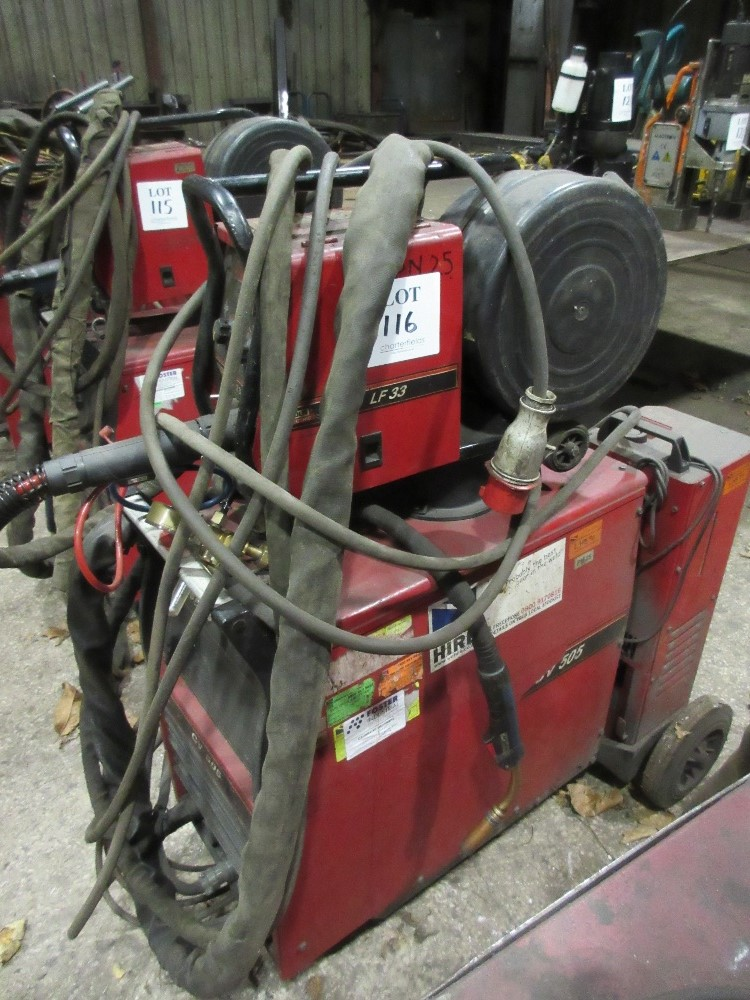 Lincoln Electric Ideal Arc CV505 mig welder with LF33 wire feed