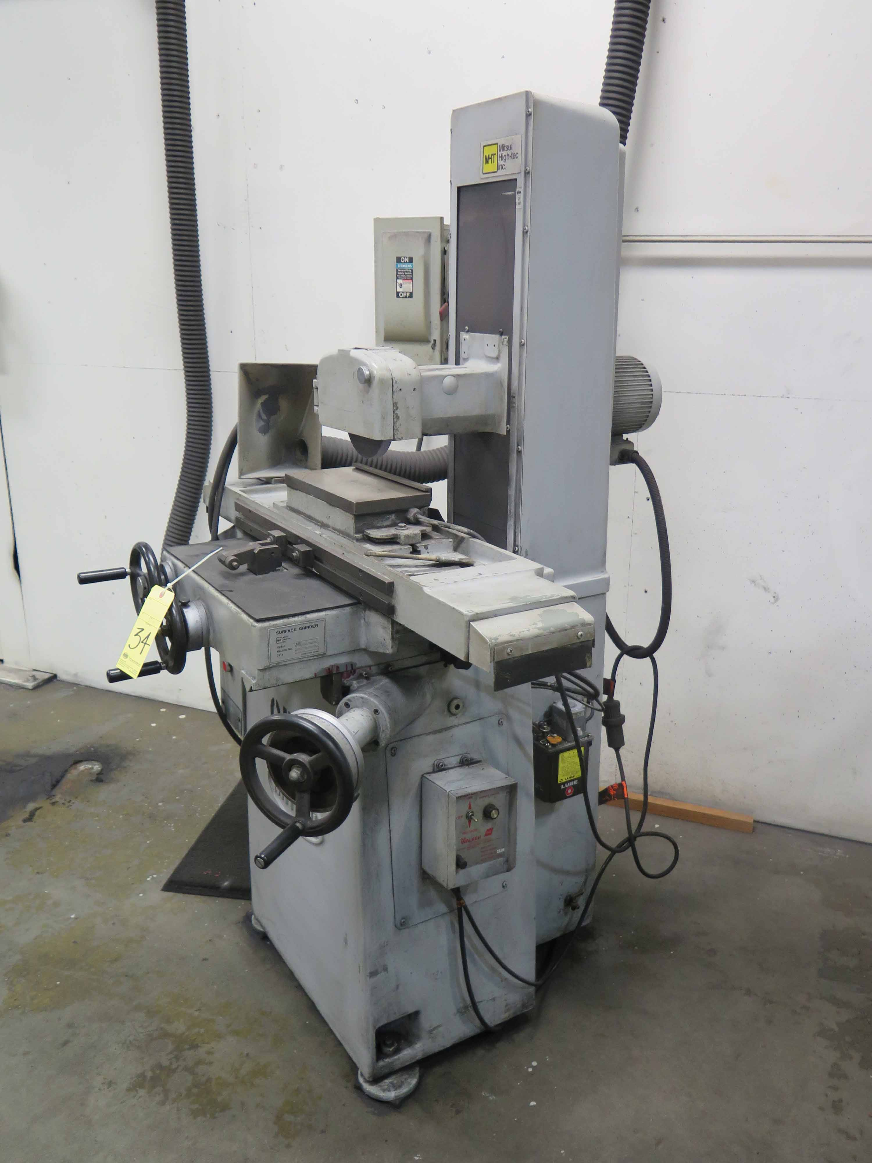 "Lot 34 - SURFACE GRINDER, MITSUI HIGH-TEC MDL. MSG-200MH, 6"" x 12"" electromagnetic chuck, Walker control, S/N"
