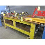 "STEEL WELDING TABLE, 96"" x 48"""