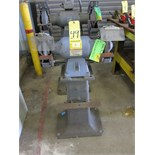 "DOUBLE END PEDESTAL GRINDER, BALDOR, 8"" wheels"