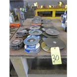 LOT OF GRINDING DISCS, assorted