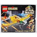 LEGO STAR WARS: A vintage Lego System Star Wars set 7141 'Naboo Fighter'.