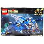 LEGO STAR WARS: A vintage Lego Star Wars System set 7161 'Gungan Sub'.