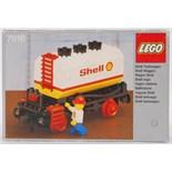 LEGO TRAIN: An original vintage Lego train set accompanying set No. 7816 Shell Wagon.
