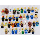 LEGO MINIFIGS: A collection of 39x assorted Lego minifigures to include vintage, Town, City,