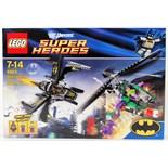 LEGO SUPER HEROES: A Lego DC Comics Super Heroes 6863 set 'Batwing Battle Over Gotham City'.