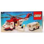 LEGO TOWN: An original vintage Lego Town set Air Ambulance 386. Within the original box.