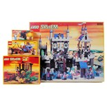 LEGO KNIGHTS: A collection of 4x vintage original Lego Knights EMPTY boxes - 6090, 6056,